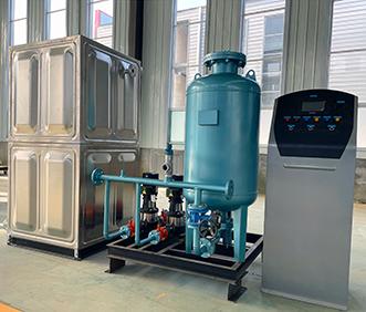 yan台bu锈钢胶囊水箱、补水定压zhuang置供货完成